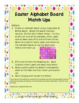 Easter Alphabet Board Match Ups