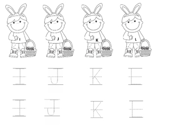 Easter Alphabet Letter Tracing