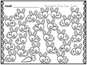 Easter Alphabet Cards