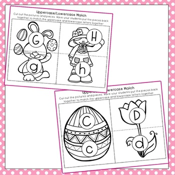 Easter Alphabet Game: Matching Letters