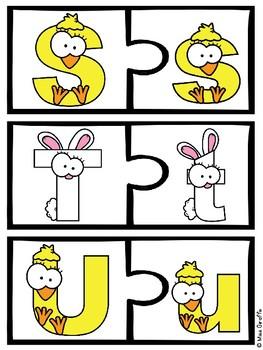 Spring Alphabet Letters Puzzles