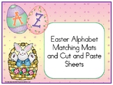 Easter Alphabet Matching Mats and Cut and Paste Sheets
