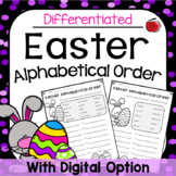 Easter Alphabetical Order (ABC Order) Activity - Different