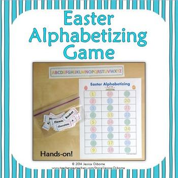 Easter Alphabetizing Game