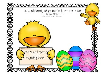 Easter And Spring Rhyming Cards
