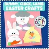Easter Animal Crafts | Bunny, Lamb and Chick Spring Crafts