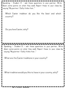 Easter Around the Word {Reading Comprehension, + printable activities for ESL}