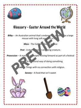 Easter Around the World - Reading Comprehension Activity