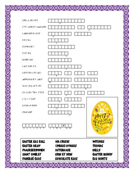 Easter  Around the World-Word Search, Double Puzzle & Fun Facts