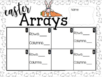 Easter Array Task Cards and Scoot