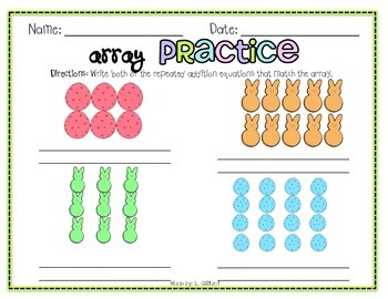 Easter Arrays - Repeated Addition