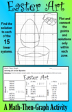 Easter Art - A Math-Then-Graph Activity - Solve 15 Systems