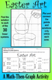 Easter Art - A Math-Then-Graph Activity - Solve 30 Systems