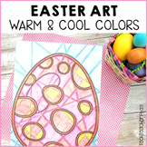 Easter Art Activities warm and cool colours