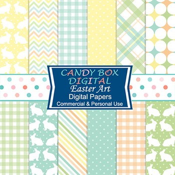 Easter Art Digital Papers - Commercial Use OK