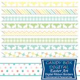 Easter Art Digital Ribbon Borders - Commercial Use OK