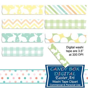 Easter Art Digital Washi Tape - Commercial Use OK