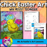 Easter Art Project, Chick Wax Resist