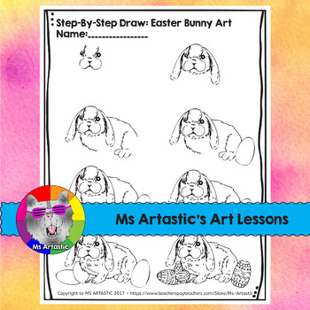 Easter Art Lesson, Easter Bunny Wax Resist