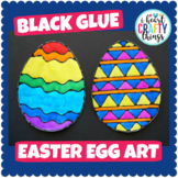 Easter Art Project -Black Glue Easter Egg Art