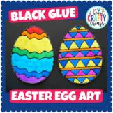 Easter Art Project -Black Glue Easter Egg Art