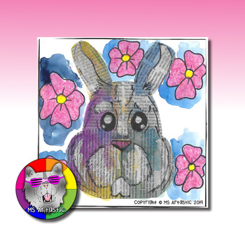 Easter Art Project, Easter Bunny Mixed Media