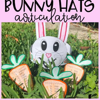 Easter Articulation Activity - Bunny Hats