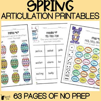 Easter and Spring Articulation Bundle