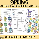 Spring Articulation Activities ALL SOUNDS | Easter Articulation