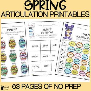 Easter and Spring Articulation Bundle