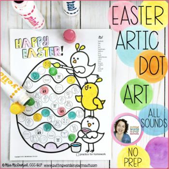Easter Dot Art {No Prep!}