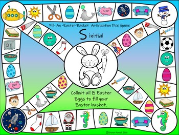 Easter Articulation Games Bundle for Speech Therapy