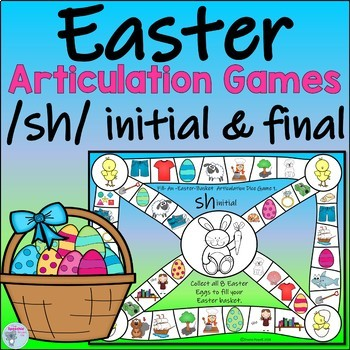 Easter Articulation Games for sh Words