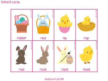 Easter Articulation Fun - R S L Th & blends