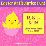 Easter Articulation Fun - R S L Th & blends #TpTSLPEggHop
