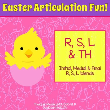 Easter Articulation Fun - R S L Th & blends