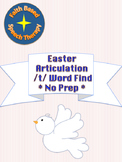 Articulation /t/ Easter word find no prep speech therapy