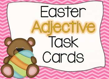 Easter BEARS Adjective Task Cards