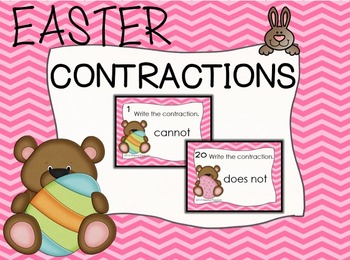 Easter BEARS Contraction Task Cards
