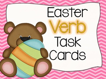 Easter BEARS Verb Task Cards