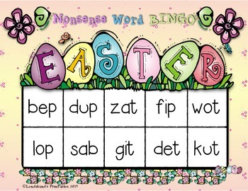 Nonsense Word Fluency Freebie for EASTER by Ms. Lendahand