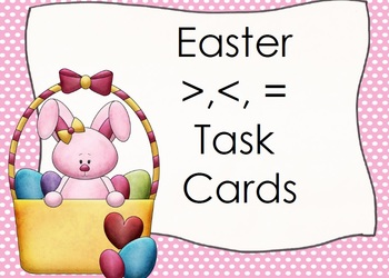 Easter BUNNY Greater Than/Less Thank Task Cards