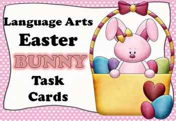 Easter BUNNY Language Arts Task Card BUNDLE