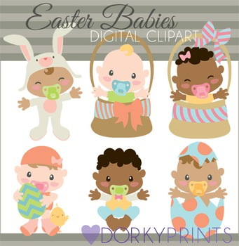 Easter Babies Digital Clip Art