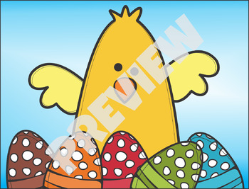 Easter Background Scenes ClipArt