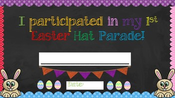 Easter Bag Template and Printable Sign and Certificate