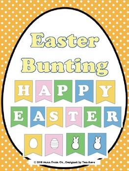Easter Banner- polka dots