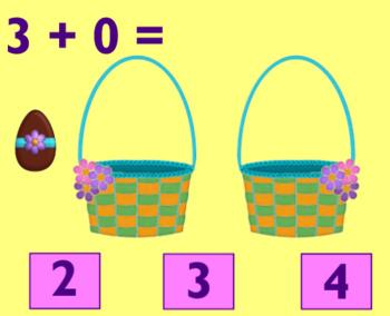 Easter Basket Addition Game for the Smartboard