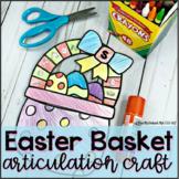 Easter Basket Articulation Craft | NO PREP