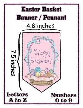 Easter Basket Banner Chevron Bundle - Any Message - All Letters & numbers